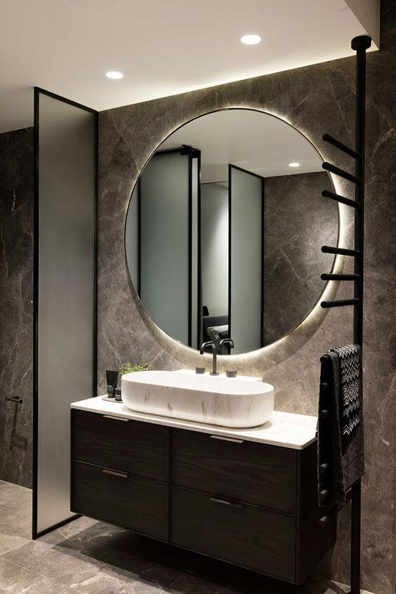 Espejo redondo baño
