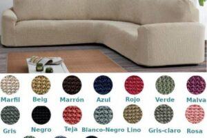 Fundas elasticas para sofas rinconera
