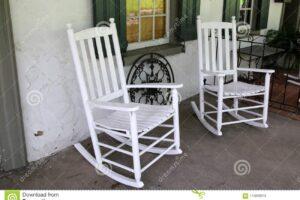 Mecedora portico blanca
