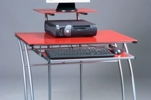 Mesa escritorio roja