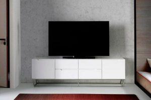 Mueble tv patas acero